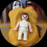 Baby Jezus in de Kerststal
