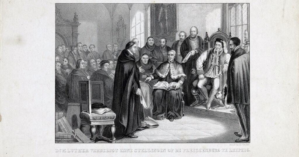 Luther verdedigt zijn stellingen, anonymous, 1822 - 1845