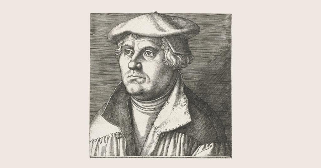 Portret hervormer Maarten Luther