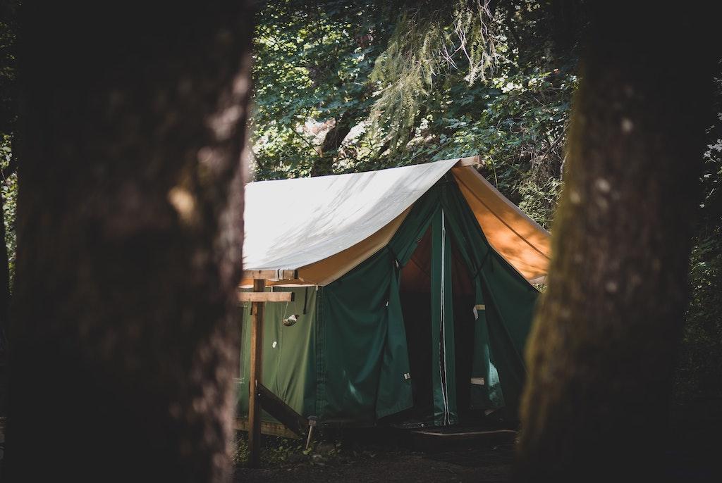 Storm op de camping